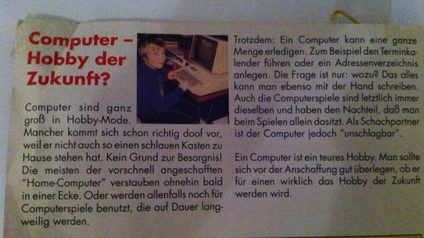 Computer ohne zukunft