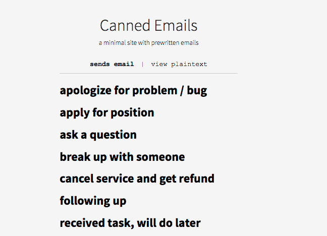 http://www.cannedemails.com/